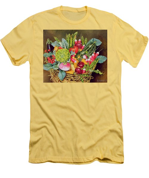 Summer Vegetables Men's T-Shirt (Athletic Fit)