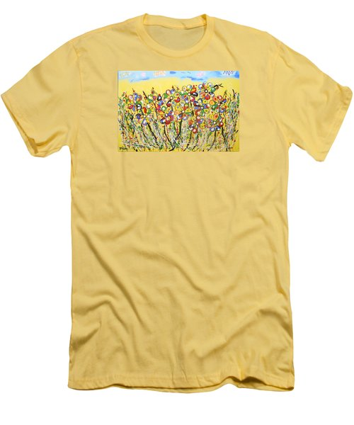 Sun-kissed Flower Garden Men's T-Shirt (Athletic Fit)