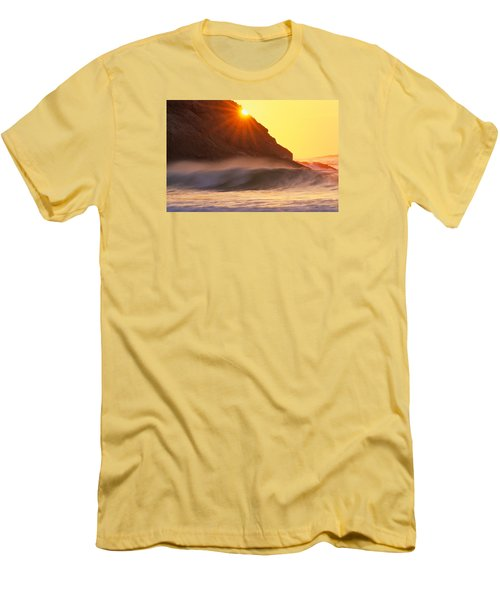 Sun Star Singing Beach Men's T-Shirt (Slim Fit) by Michael Hubley