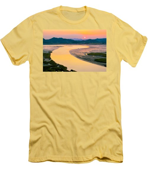 Suncheon Bay Sunset Men's T-Shirt (Athletic Fit)