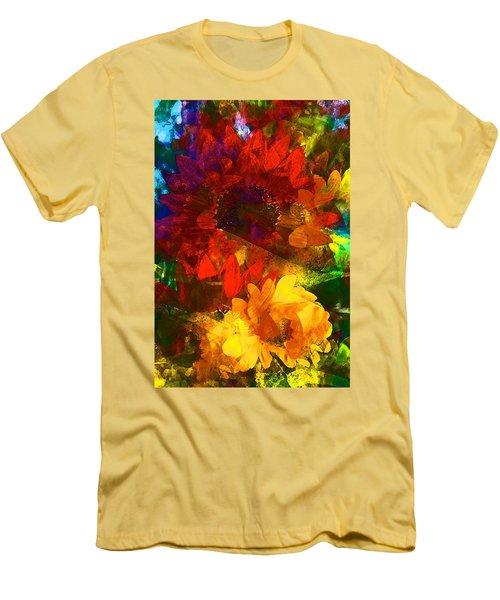Sunflower 11 Men's T-Shirt (Slim Fit) by Pamela Cooper