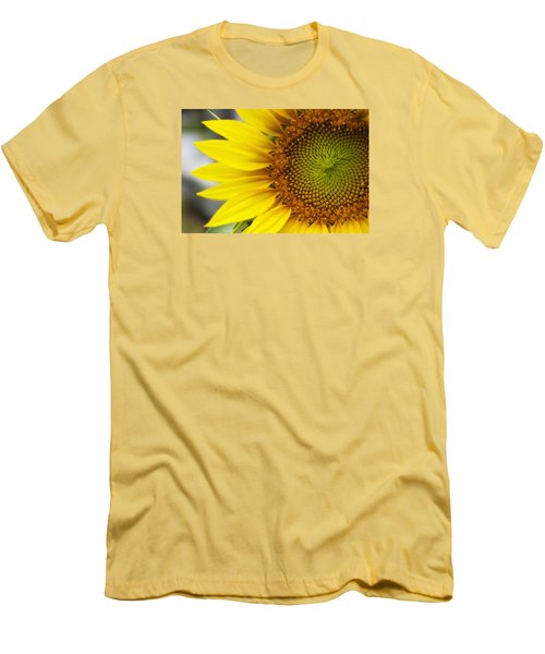 Sunflower Face Men's T-Shirt (Slim Fit) by Shelly Gunderson