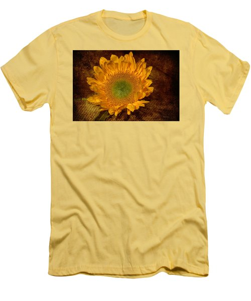 Men's T-Shirt (Slim Fit) featuring the photograph Sunflower Light by Phyllis Denton