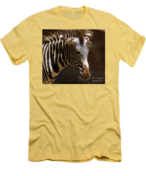 Men's T-Shirt (Slim Fit) featuring the photograph Sunlit Stripes by Linda Shafer