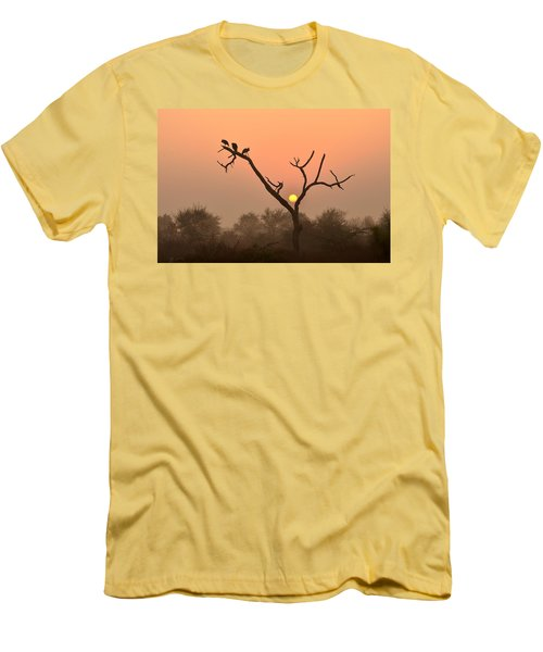 Sunrise At Bharatpur Men's T-Shirt (Athletic Fit)
