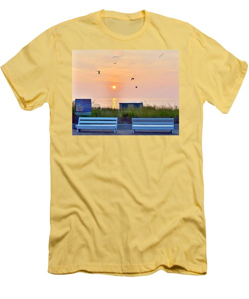 Sunrise At Rehoboth Beach Boardwalk Men's T-Shirt (Athletic Fit)