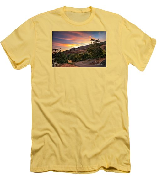 Sunrise At Woodhead Park Men's T-Shirt (Slim Fit) by Robert Bales