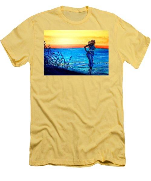 Sunrise Blues Men's T-Shirt (Athletic Fit)