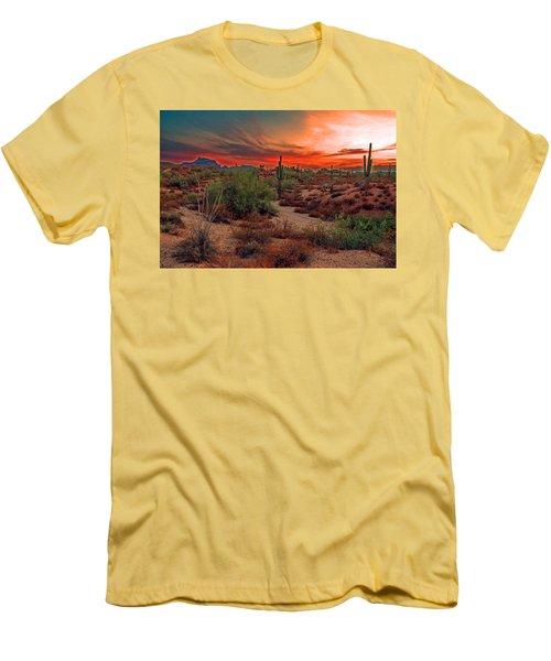 Sunrise Cocktail Men's T-Shirt (Slim Fit) by Tam Ryan