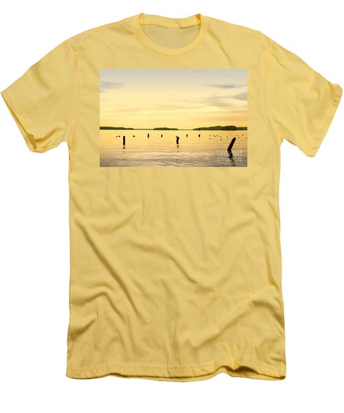Men's T-Shirt (Slim Fit) featuring the photograph Sunset At Lake Muskoka by Les Palenik