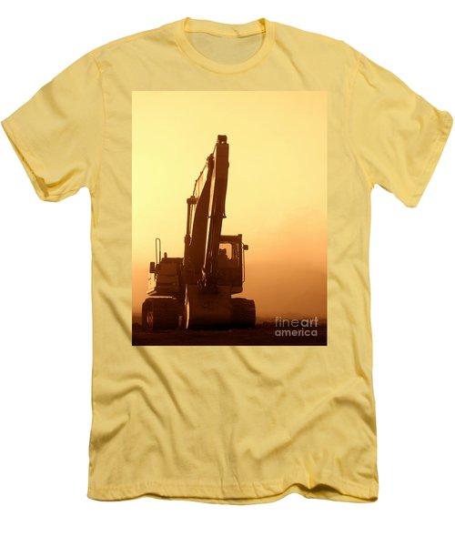 Sunset Excavator Men's T-Shirt (Athletic Fit)