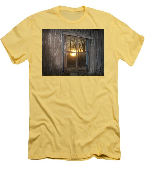 Men's T-Shirt (Slim Fit) featuring the photograph Sunset In Glass by Cynthia Lassiter