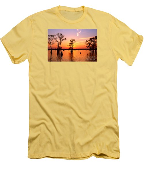 Sunset Lake In Louisiana Men's T-Shirt (Athletic Fit)