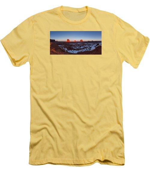 Sunset Moonrise Men's T-Shirt (Slim Fit) by Tassanee Angiolillo