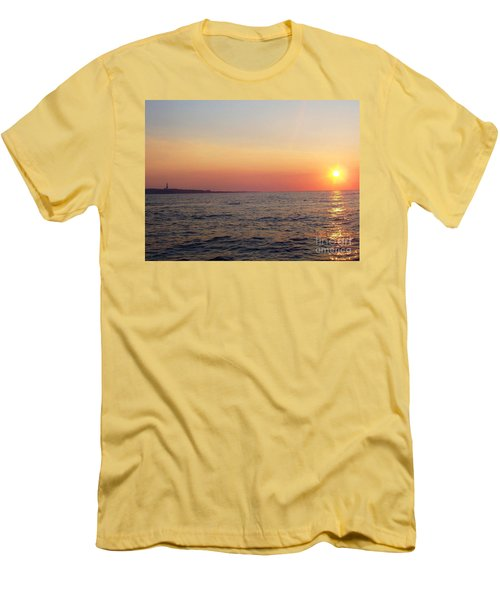 Sunset Over Montauk Men's T-Shirt (Athletic Fit)