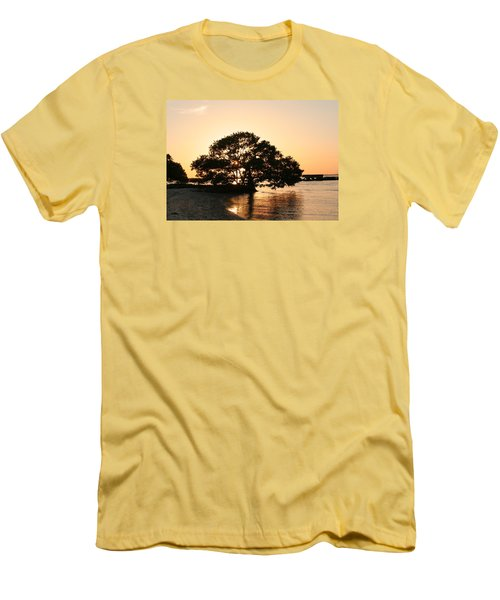 Sunset Silhouette Men's T-Shirt (Athletic Fit)