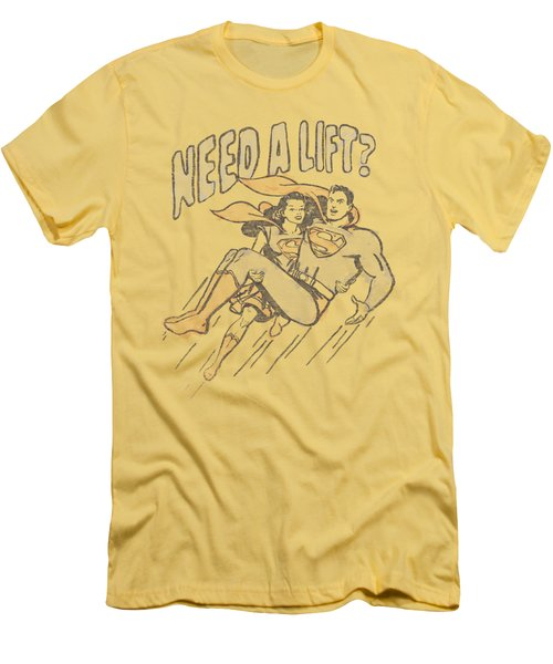 Superman - Need A Lift Men's T-Shirt (Athletic Fit)