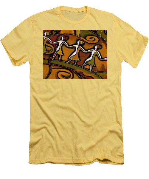 Support Men's T-Shirt (Slim Fit) by Leon Zernitsky