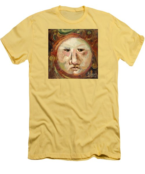 Suspicious Moonface Men's T-Shirt (Athletic Fit)