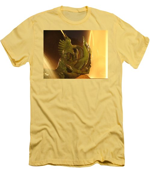 Men's T-Shirt (Slim Fit) featuring the photograph Swann Fountain by Christopher Woods