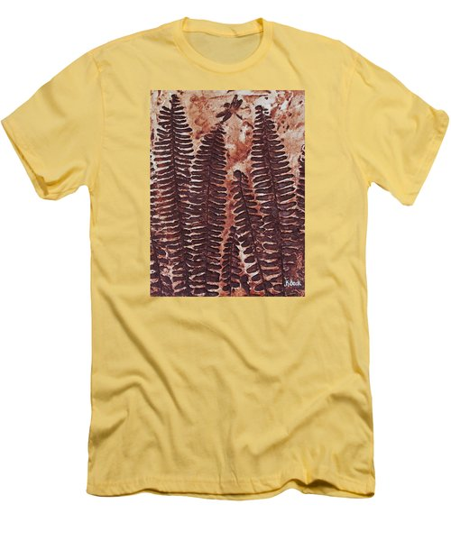 Sword Fern Fossil Men's T-Shirt (Slim Fit) by Katherine Young-Beck