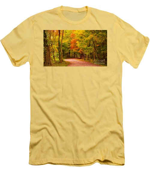 Men's T-Shirt (Slim Fit) featuring the photograph Take Me To The Forest by Rima Biswas
