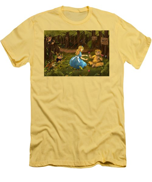 Men's T-Shirt (Slim Fit) featuring the painting Tammy And The Baby Hoargg by Reynold Jay
