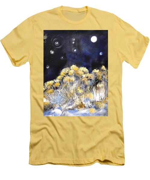 Taos Night Orbs Men's T-Shirt (Slim Fit) by Glory Wood