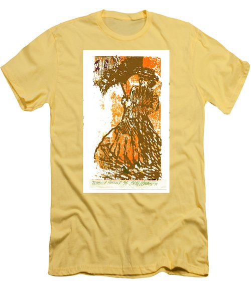 Men's T-Shirt (Slim Fit) featuring the relief Tattered Parasol by Seth Weaver