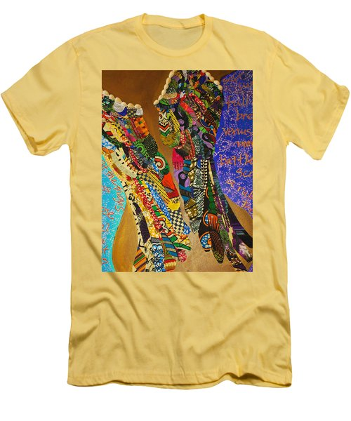 Men's T-Shirt (Athletic Fit) featuring the tapestry - textile Temple Of The Goddess Eye Vol 1 by Apanaki Temitayo M