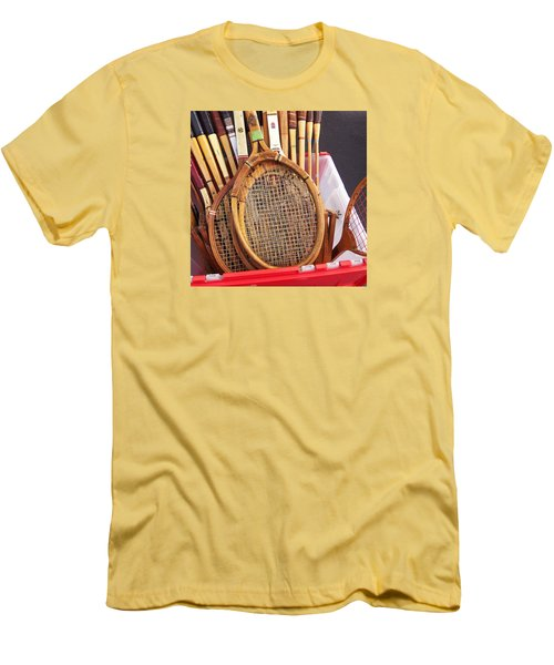 Tennis Anyone Men's T-Shirt (Slim Fit) by Art Block Collections