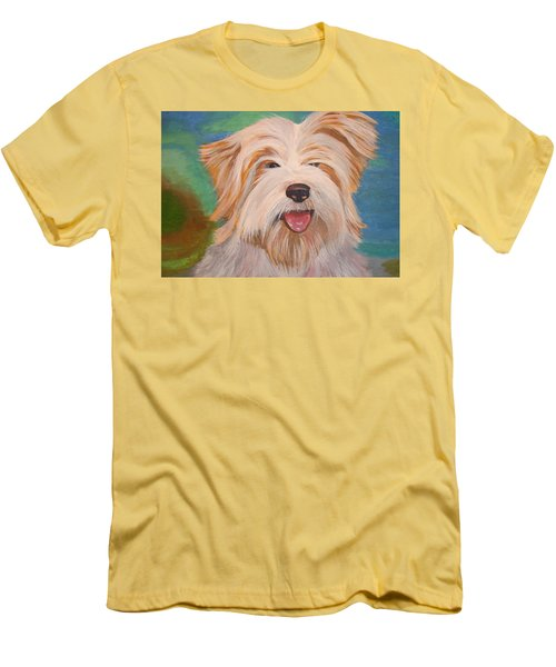 Terrier Portrait Men's T-Shirt (Athletic Fit)