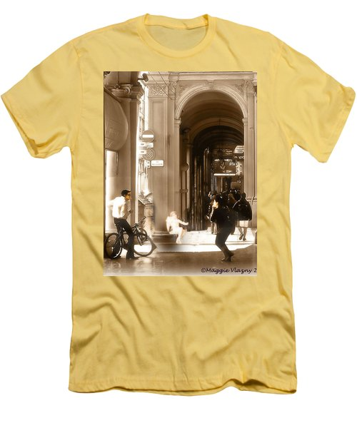 The Art Of Love Italian Style Men's T-Shirt (Athletic Fit)