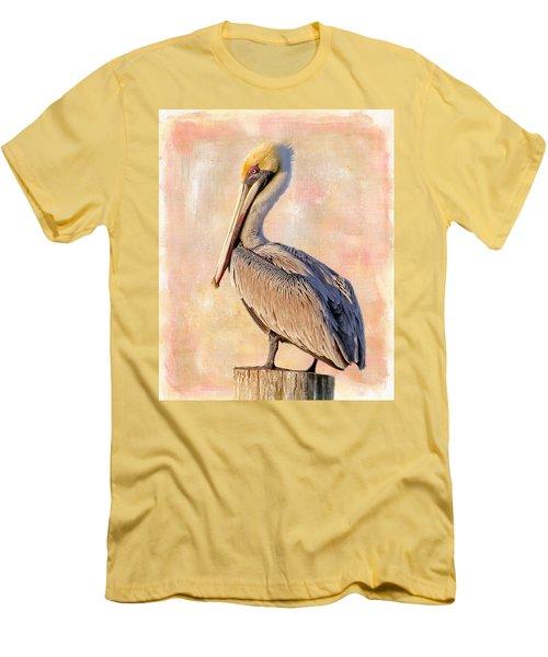 Birds - The Artful Pelican Men's T-Shirt (Athletic Fit)
