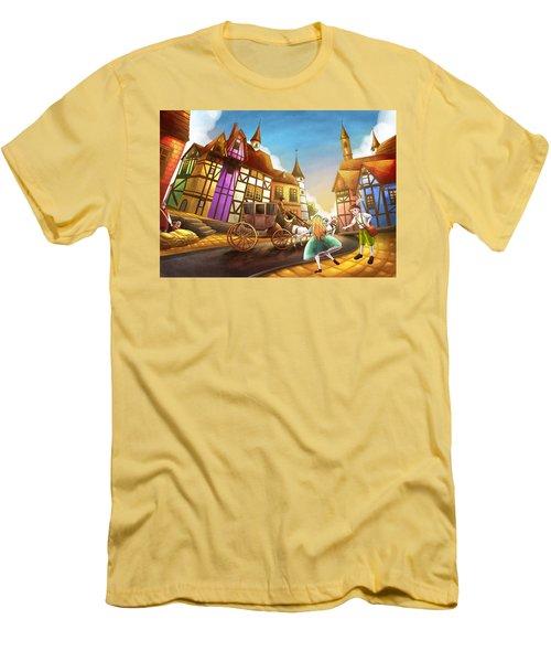 The Bavarian Village Men's T-Shirt (Slim Fit) by Reynold Jay