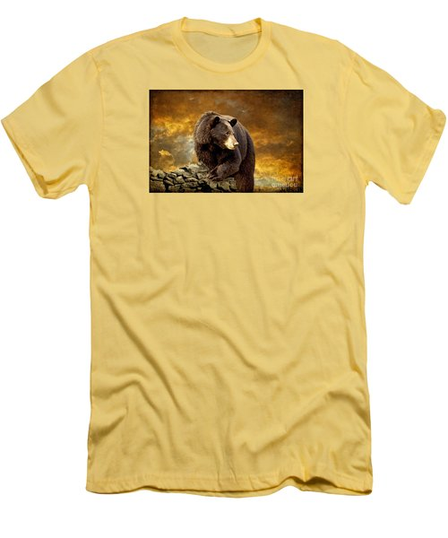 The Bear Went Over The Mountain Men's T-Shirt (Athletic Fit)