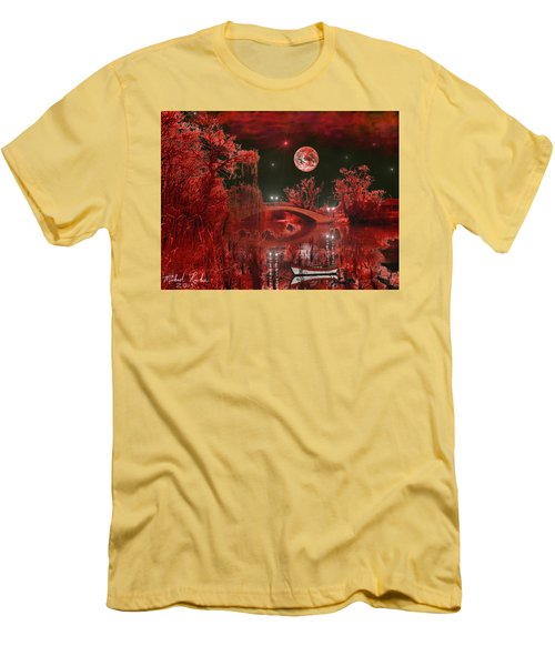 The Blood Moon Men's T-Shirt (Slim Fit) by Michael Rucker