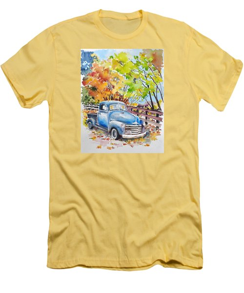 The Old Chevy In Autumn Men's T-Shirt (Athletic Fit)