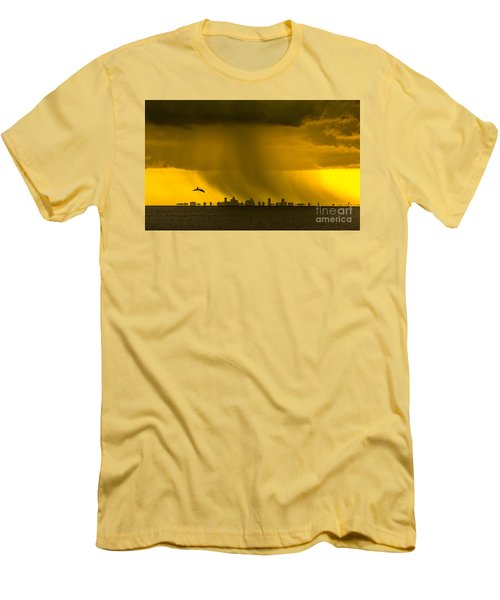 The Floating City  Men's T-Shirt (Slim Fit) by Marvin Spates