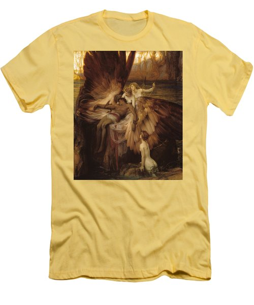 The Lament For Icarus Men's T-Shirt (Slim Fit) by Herbert James Draper