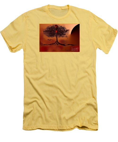 The Last Tree Men's T-Shirt (Slim Fit) by The Art of Alice Terrill
