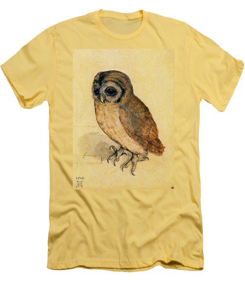 The Little Owl Men's T-Shirt (Slim Fit) by Albrecht Durer
