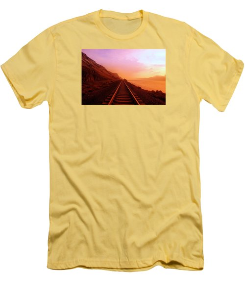 Men's T-Shirt (Slim Fit) featuring the photograph The Long Walk To No Where  by Jeff Swan