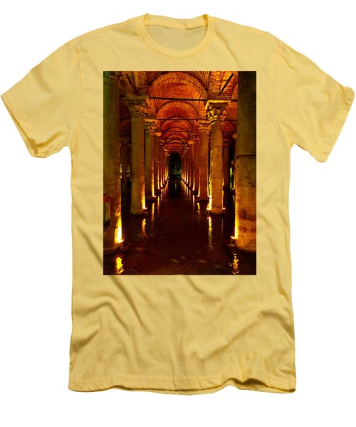 Men's T-Shirt (Slim Fit) featuring the photograph The Most Romantic Place Of Istanbul by Zafer Gurel