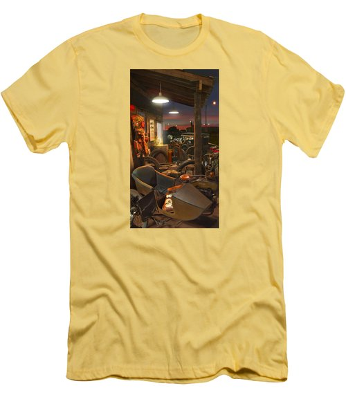 The Motorcycle Shop 2 Men's T-Shirt (Slim Fit) by Mike McGlothlen
