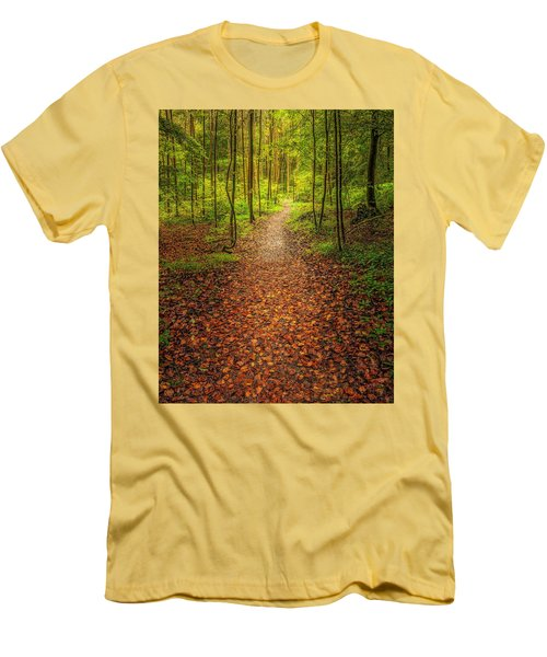The Path Men's T-Shirt (Slim Fit) by Maciej Markiewicz