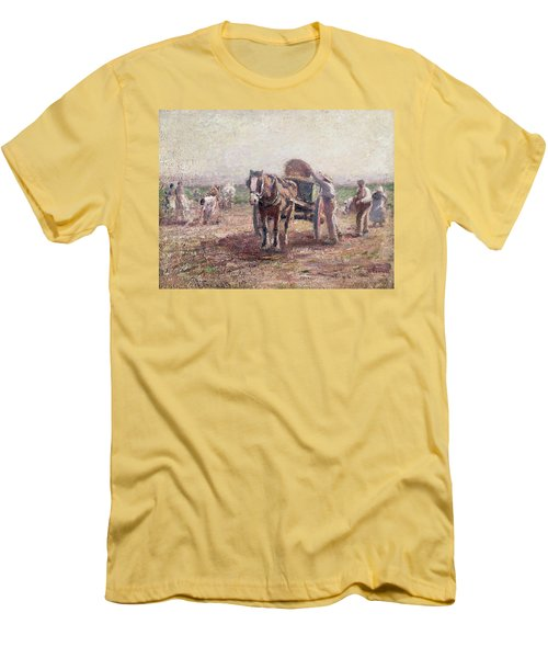 The Potato Pickers Men's T-Shirt (Slim Fit) by Harry Fidler