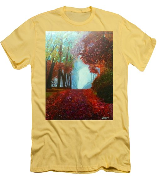 The Red Cathedral - A Journey Of Peace And Serenity Men's T-Shirt (Slim Fit) by Belinda Low