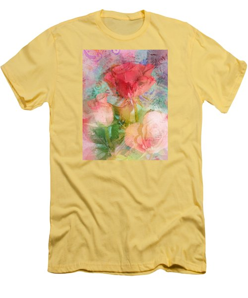 The Romance Of Roses Men's T-Shirt (Athletic Fit)