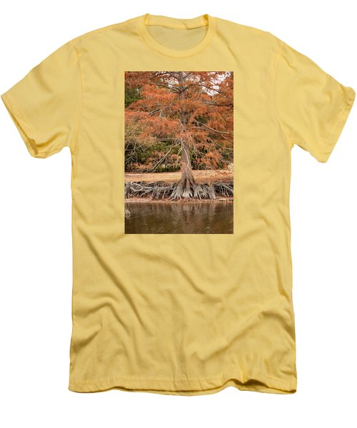 Men's T-Shirt (Slim Fit) featuring the photograph The Root Of It All by Rebecca Davis